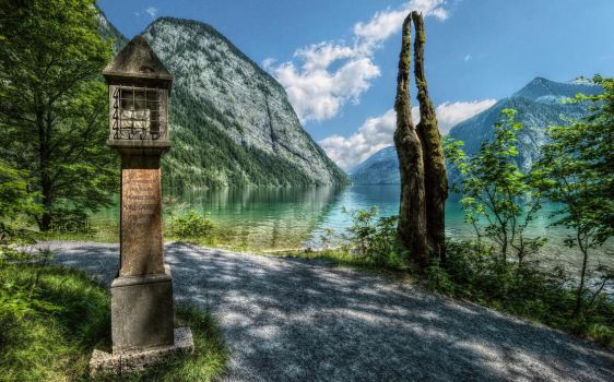 Memorial Stone at Koenigssee by pingallery