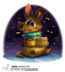 Daily Painting 1663# - Corgi Doo by Cryptid-Creations
