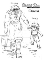 Dahiki and his adoptive grandpa by Zazawa