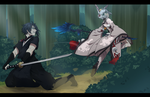 |Commission| You can't catch me, looser! by KasuSei