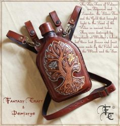 Leather flask by Fantasy-Craft