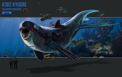 #382 - Kyogre by catandcrown