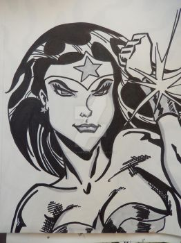Inktober Oct 29 Wonder Woman by Paul-A-Newman