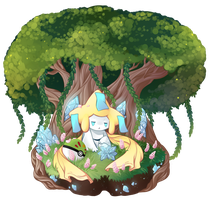 Under the Mythical Tree by Floofurr