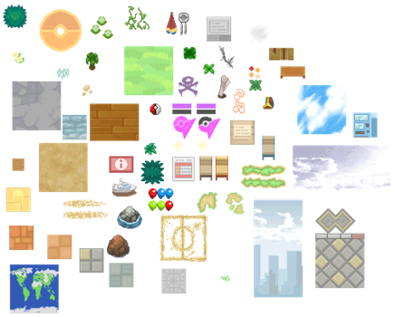 Pokemon BW2 - Some Random Tiles by shiney570