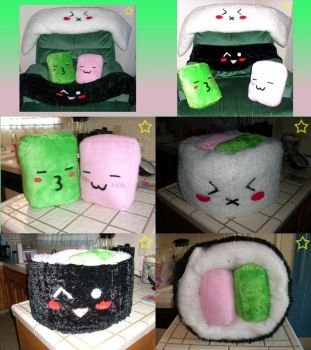 Large Sushi Pillow by LiLMoon