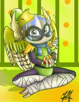 Cute Parakeet Bomber by SailorBomber