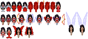 Sailor Mars Sprites by Honest-Beauty