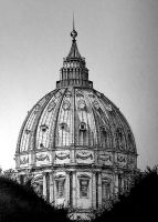 Dome of St.Peter's Basilica-Rome by m-AES-tro