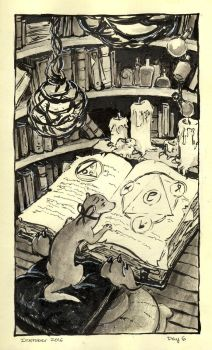 Book of Shadows - Inktober Day 6 by stasiaarts