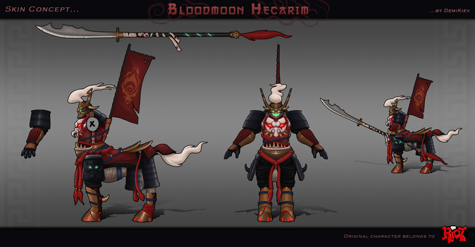 Skin Concept : Bloodmoon Hecarim by DemiKiev