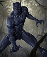 black panther by mehchall