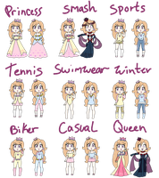 Clarrisa and Claressa outfits by IceCreamLink