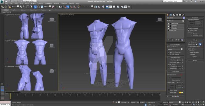 Body Polygon Modelling (preview) part 2 by NeutralHumanity