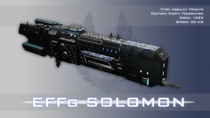 Earth Federated Nations frigate Solomon by Nyctaeus