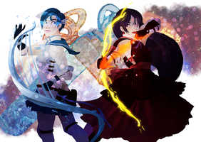 pretty soldier sailor mercury and mars by naima