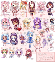 ADOPTS: Adoptable Fleamarket [CLOSED] by Mewpyonadopts