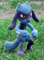 Needle Felted Riolu by YuliaLeonovich