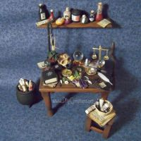 Wiccan Altar Table, 1:12 scale by DFLY847