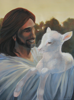 Jesus and the Lamb by ShaleseSands