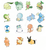 Pokemon Starters Charm by ItsRei