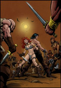 Conan vs Red Sonja Pg 2 by KittyPierce