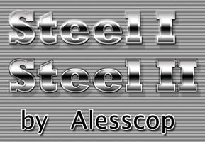 Steel Styles for Photoshop by alesscop