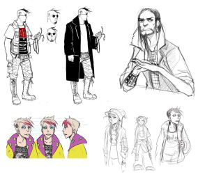 Drugs and Wires: character designs by cryo-draws