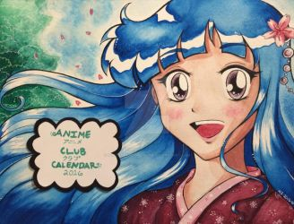 Anime Club Calendar Cover Page (FRONT) 2016 by hollystarlightanime