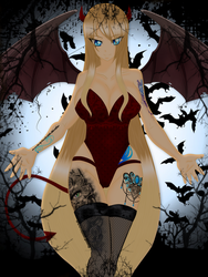 Winter Halloween Costume (Fairy Tail Oc) by AnimeLover2806