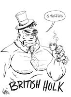 British Hulk by OuthouseCartoons