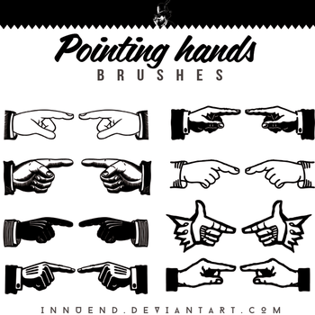 Pointing Hands brushes by Innuend