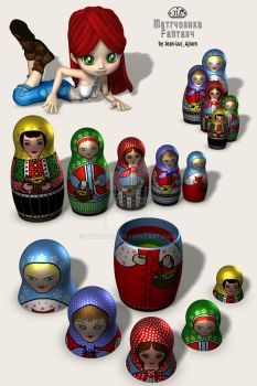 Pre-Wired 3-D doll models