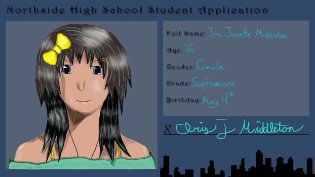 Northside High ID: Iris Janette Middleton by Kiri-Taiyaka