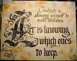 Art and Creativity Quote by Merwenna