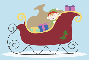 christmas sleigh by mel-bot