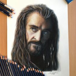 Thorin Color Pencil Drawing by AtomiccircuS