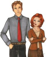 Mulder and Scully by simplytonks