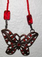Red Crystal Butterfly by ElkStarRanchArtwork
