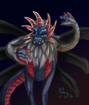 Hydreigon paint test by Masked-Meow