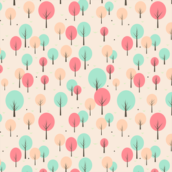 Pastel Forest Pattern by michellecreatesstuff