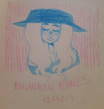 blue color pencil by angelvomit666