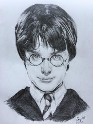 Sketching Harry Potter by MYwhiteCANVAS