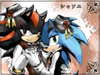 +SHADOW X SONIC+ by LeonS-7