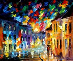 Lights And Shadows by Leonid Afremov by Leonidafremov