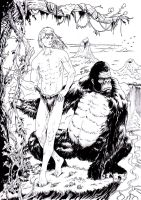Tarzan and Volcans by emalterre