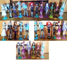 my monster high collection by AgataKa19