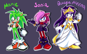 Sonic Underground re-design by Y-FireStar