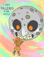 Skull Kid and Moon by ALittleSeahorse