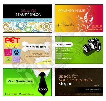 BUSINESS CARDS templates 2 by bomeng